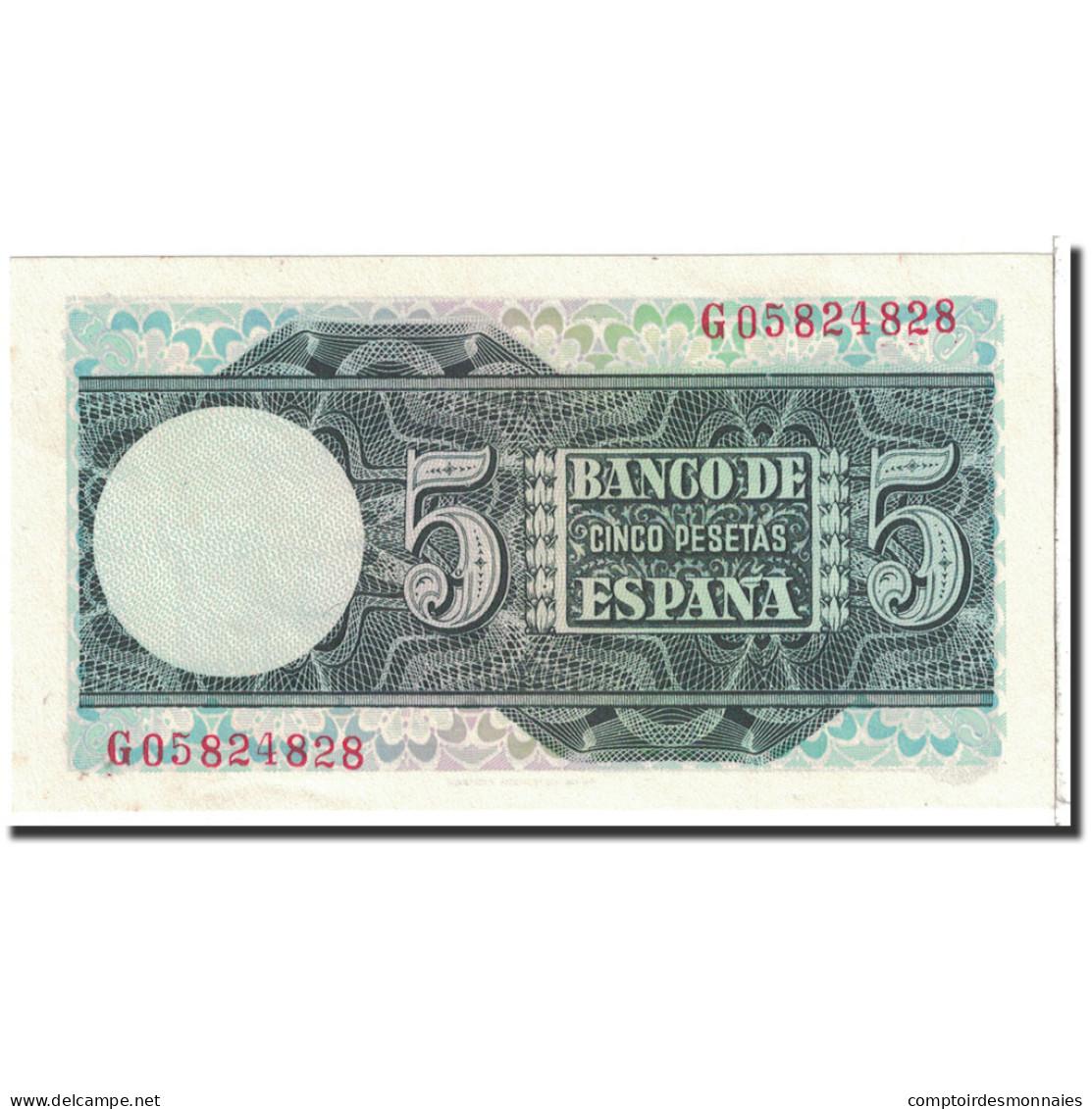 Espagne, 5 Pesetas, 1948, KM:136a, 1948-03-05, NEUF - 5 Pesetas