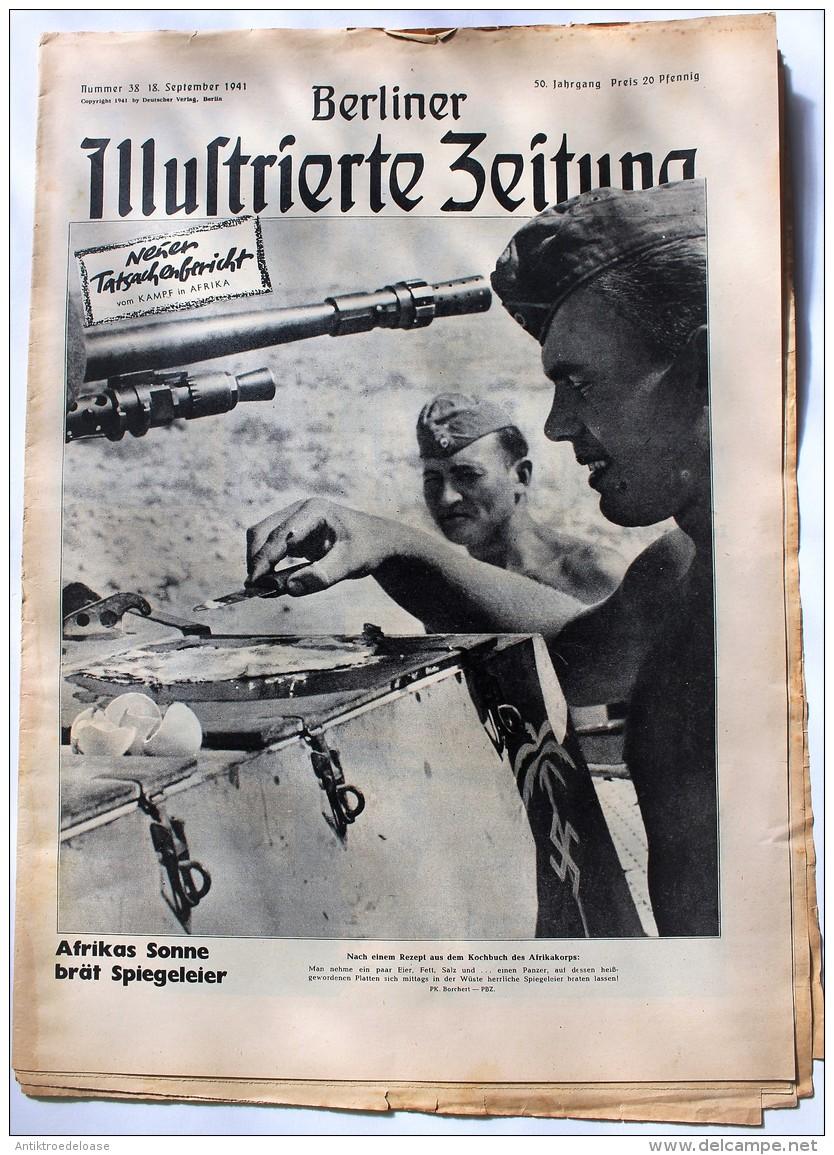 Berliner Illustrierte Zeitung 1941 Nr.38 Afrikas Sonne Brät Spiegeleier - Zeitungen & Zeitschriften