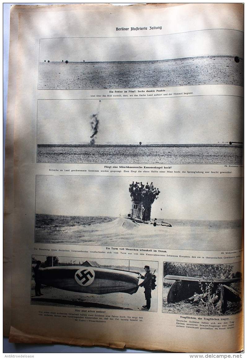 Berliner Illustrierte Zeitung 1941 Nr.38 Afrikas Sonne Brät Spiegeleier - Deutsch