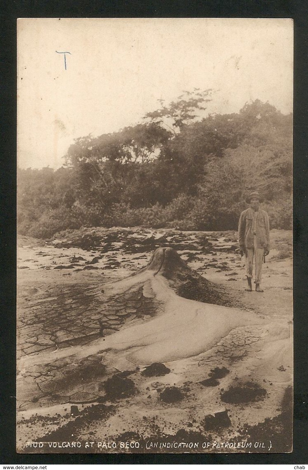 C.P.A Trinidab 1912 -- MUD VOLCANO AT PALO SECO (AN INDICATION  OF PETROLEUM OIL) -- VOLCAN - Pétrole - Trinidad