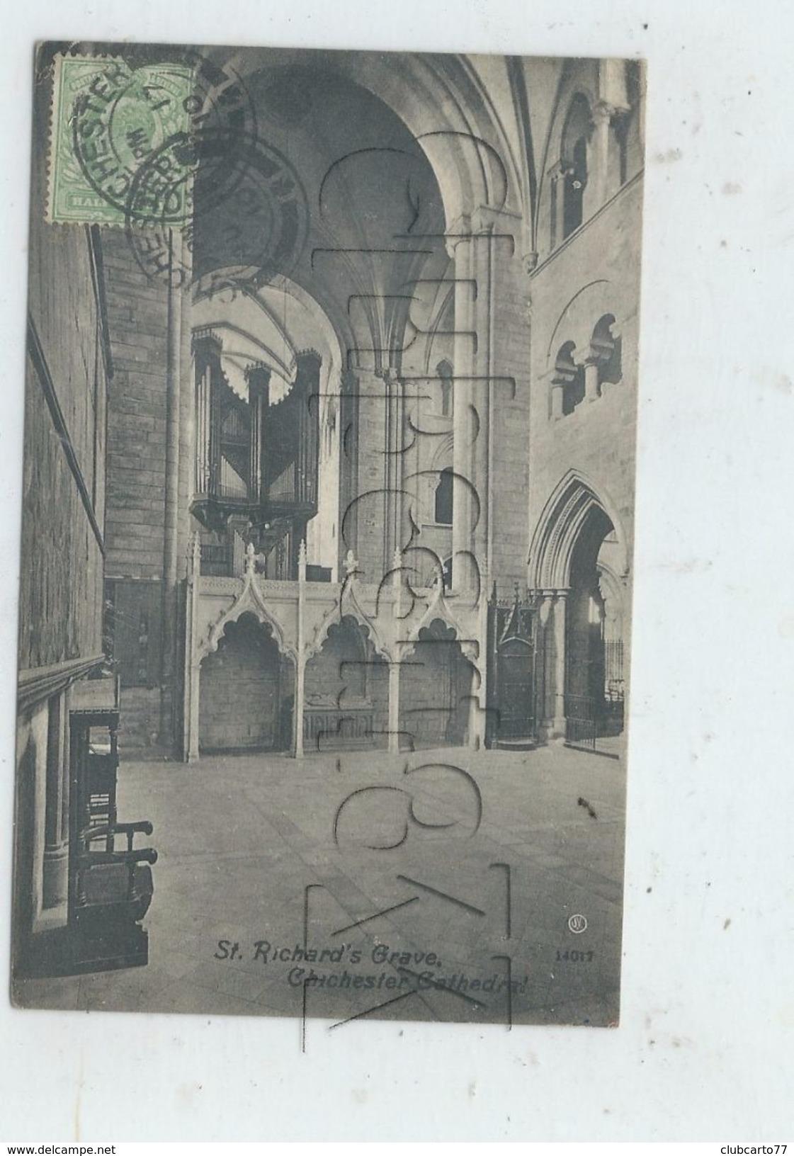 Chichester (Royaume-Uni, Sussex) : Le Buffet D'orgues De La Cathédrale  En 1910 PF. - Chichester