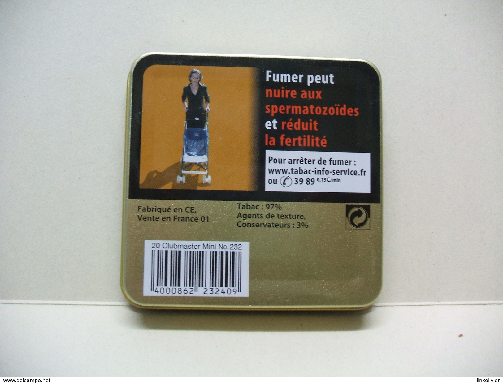 BOITE Métal Vide CLUBMASTER MINI Superior Vanilla (20 Cigares) - Étuis à Cigares