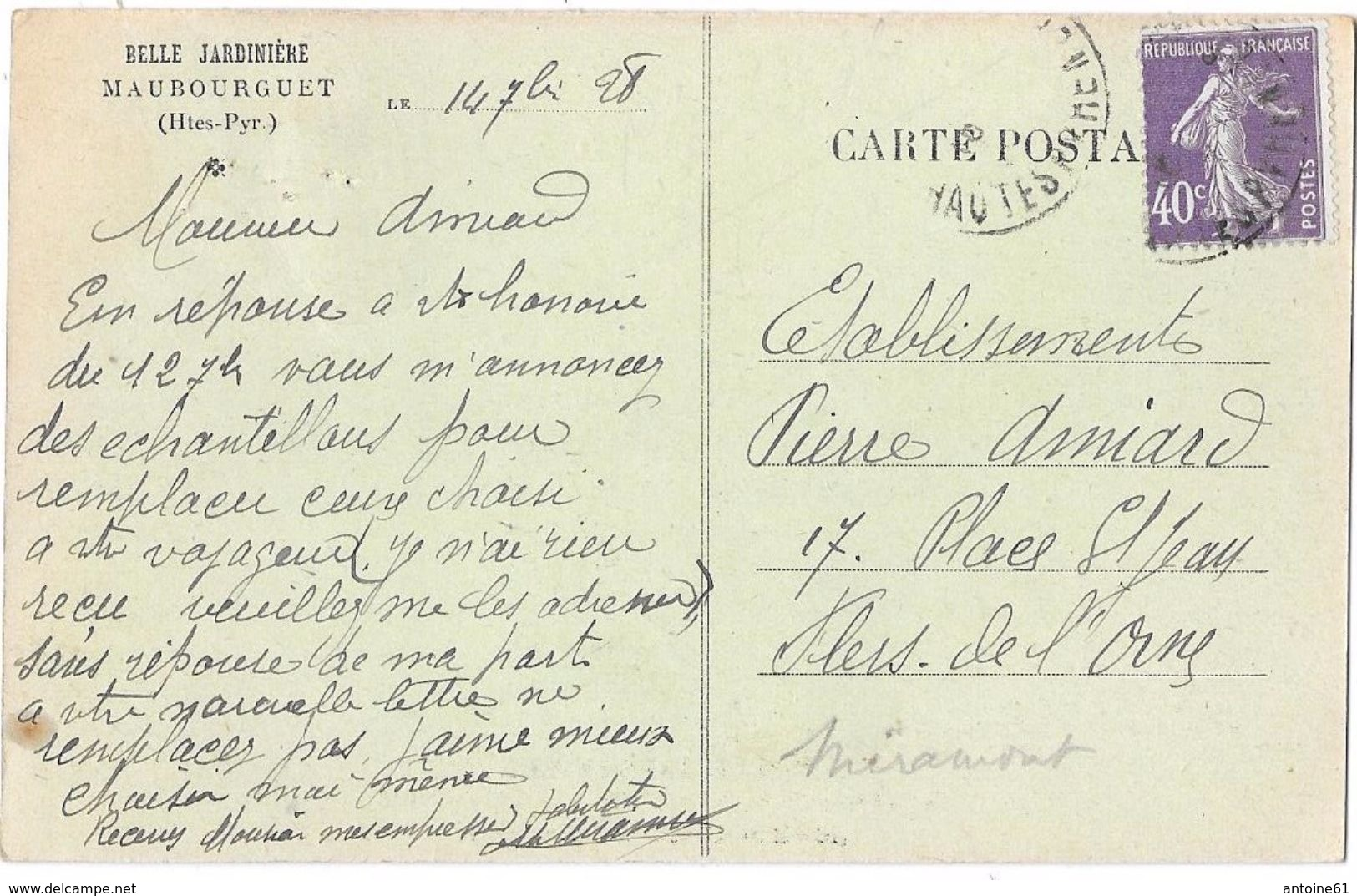 MAUBOURGUET - Belle Jardinière - Vêtements, Chapellerie, Parfumerie (devanture Du Magasin Et Personnel) - Maubourguet