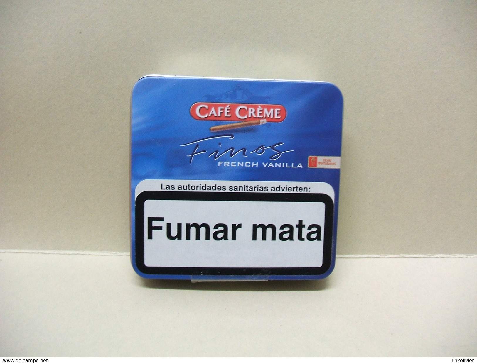 BOITE Métal Vide CAFE CREME FINOS French Vanilla (20 Cigares) - Étuis à Cigares