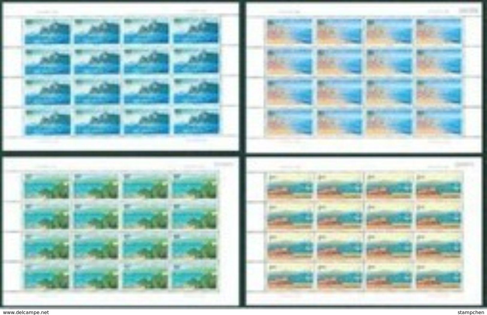 China 2001-14 Beidaihe Stamps Sheets Falls Rock Geology Beach - 1949 - ... People's Republic