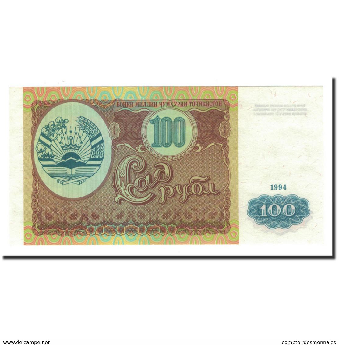Tajikistan, 100 Rubles, 1994, KM:6a, NEUF - Tadjikistan