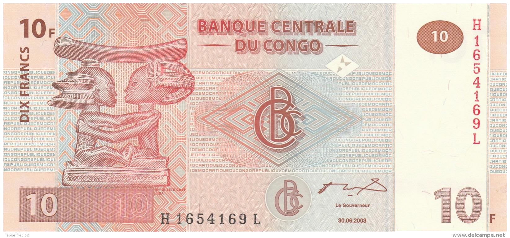 CONGO 10 FRANCS -UNC - Congo
