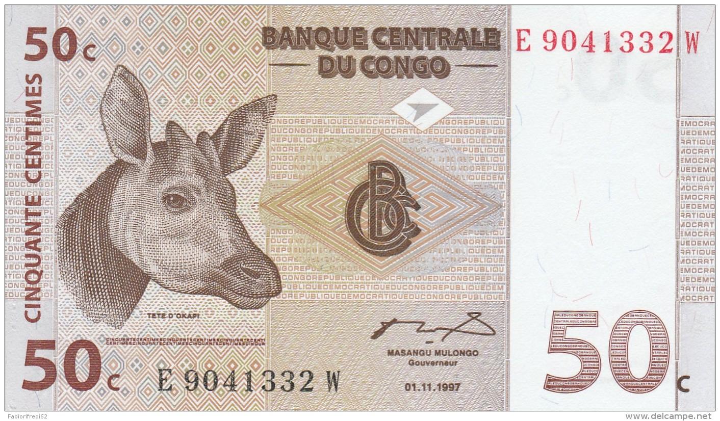 CONGO 50 CENTIMES -UNC - Congo