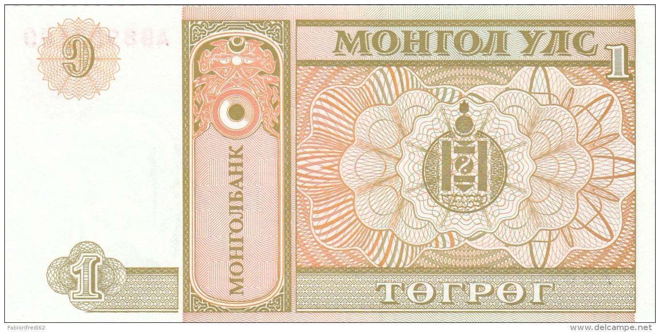 MONGOLIA 1 TUGRIK -UNC - Mongolia