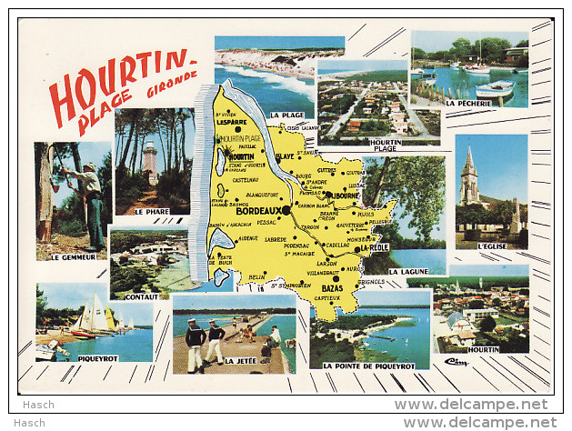 286. Hourtin, Plage (Gironde) X-stylo - Frankrijk