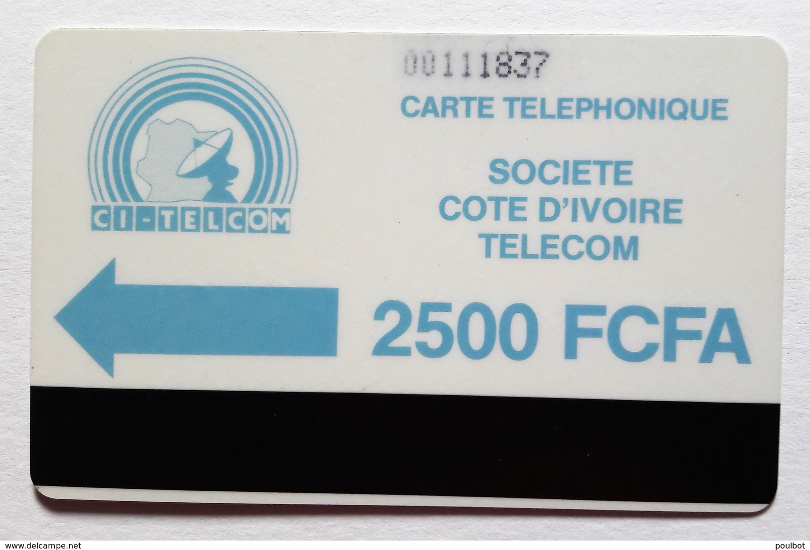 Cote D'Ivoire Télecarte Bande Magnétique - Ivory Coast