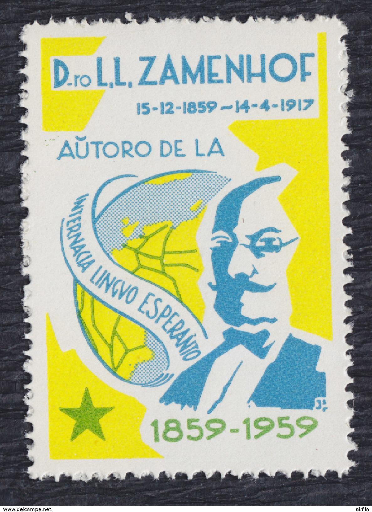 Zamenhof 1859-1959 Esperanto, Label, MNH (**) - Esperanto