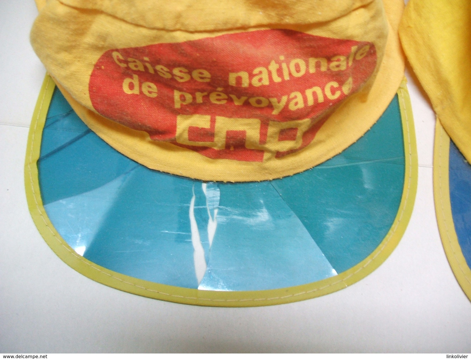 2 CASQUETTES CNP Caisse Nationale De Prévoyance - Casquette 70' Coton - Caps