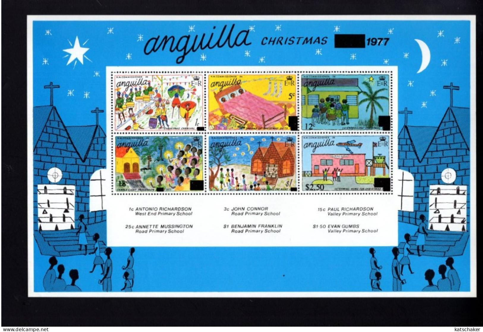 325213052 ANQUILLA   POSTFRIS MINT NEVER HINGED POSTFRISCH EINWANDFREI YVERT BF 19 KERSTMIS NOEL CHRISTMAS 1977 - Anguilla (1968-...)