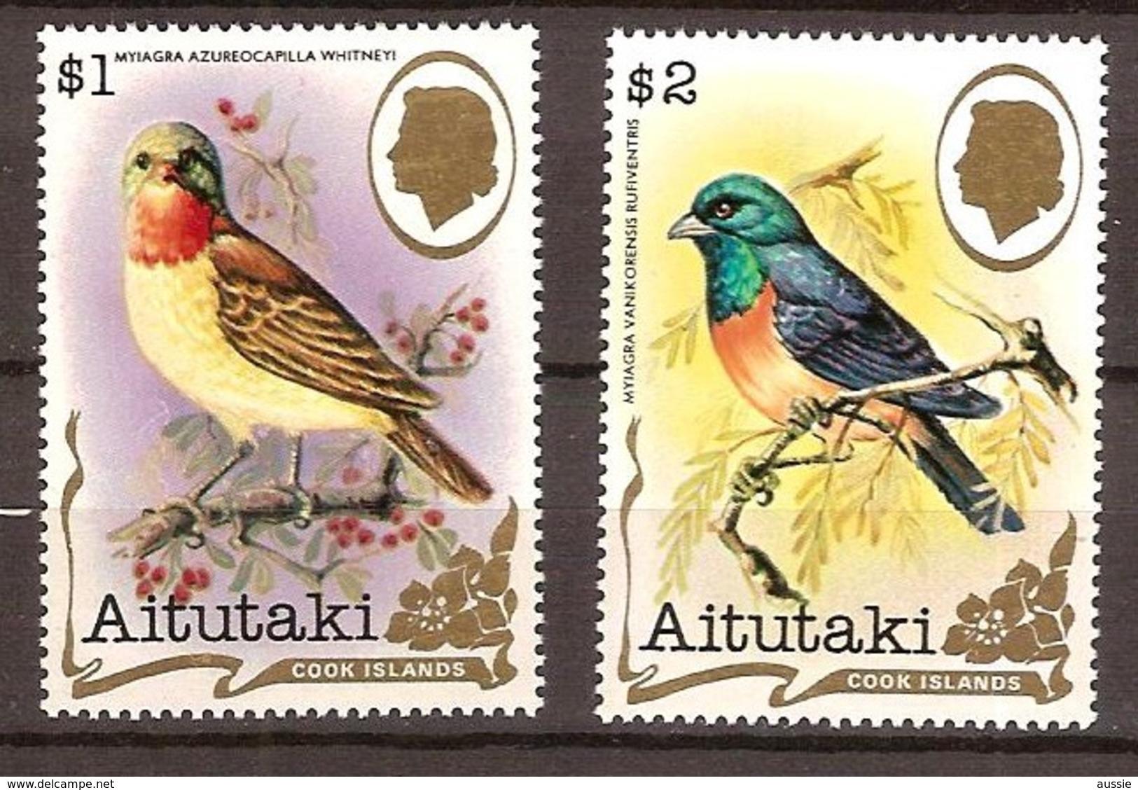 Aitutaki 1982 Yvertn° 316-317 *** MNH Cote 22,50 Euro Faune  Oiseaux Vogels Birds - Aitutaki