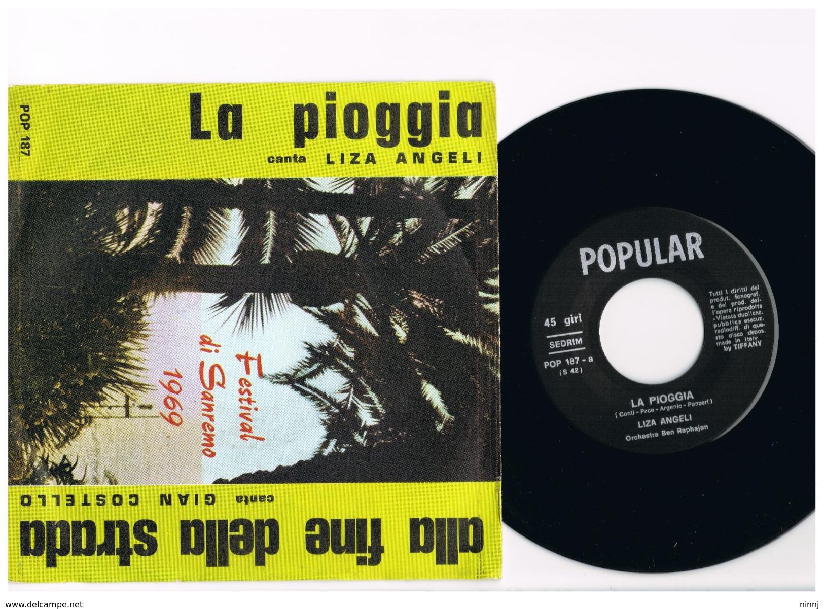 2- Italia 1969 - 45 Giri Festival Sanremo 1969 -Alla Fine Della Strada Gian Costello - La Pioggia Liza Angeli - - Collections Complètes