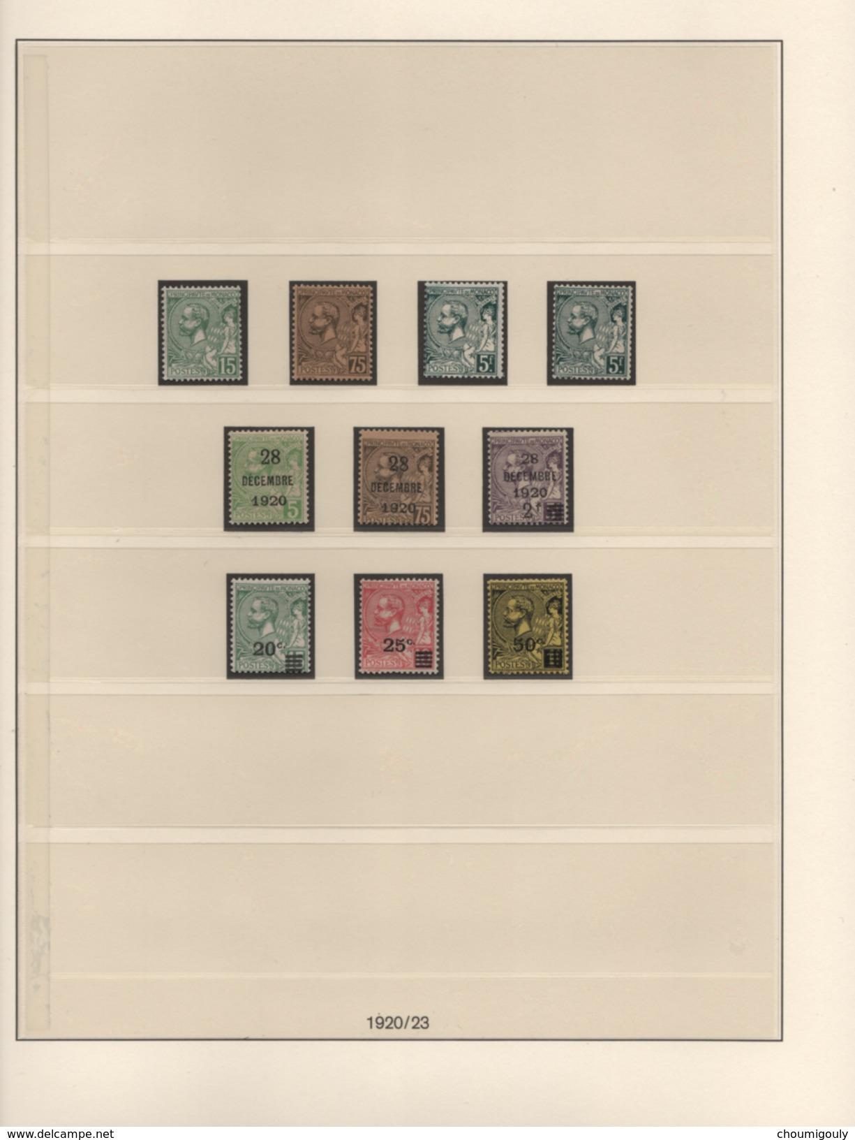 MONACO EXCEPTIONNELLE COLLECTION NEUFS Xx 1885 A 1944 COMPLETE SAUF UN TIMBRE !! - Collections, Lots & Séries
