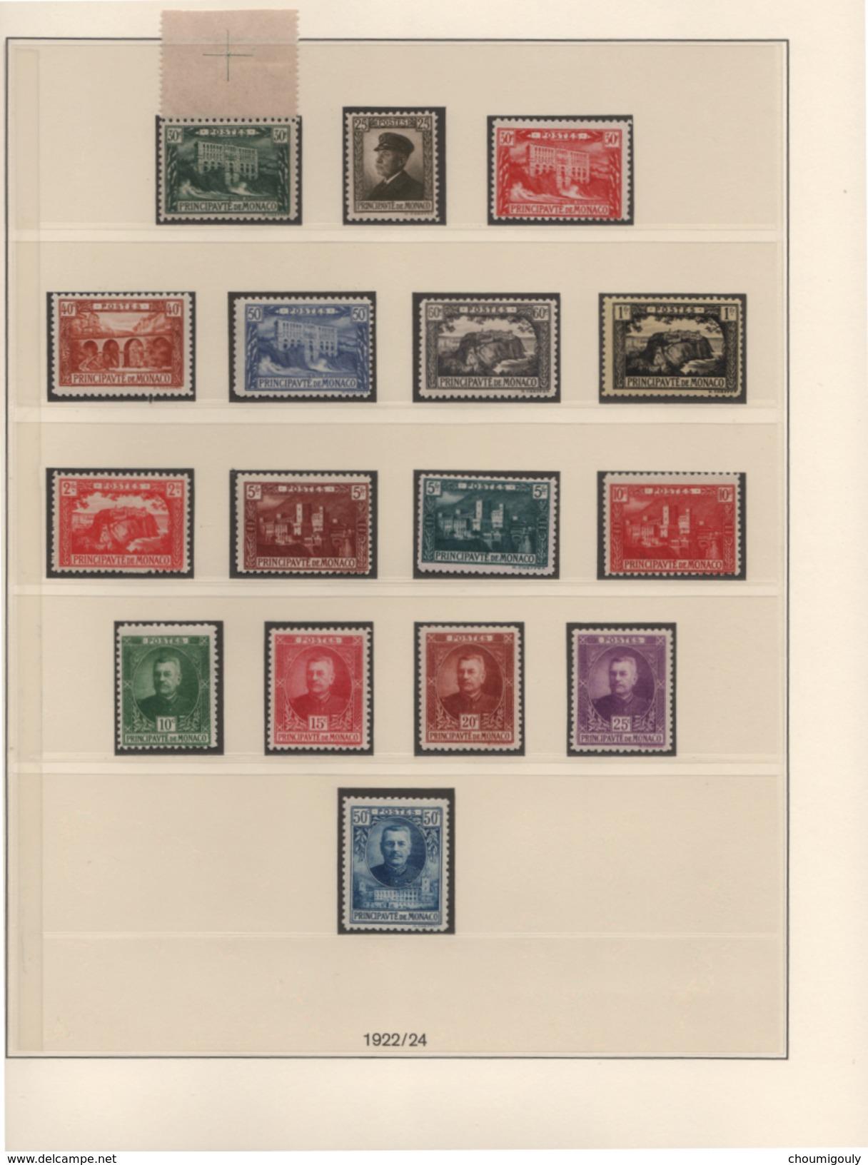 MONACO EXCEPTIONNELLE COLLECTION NEUFS Xx 1885 A 1944 COMPLETE SAUF UN TIMBRE !! - Monaco