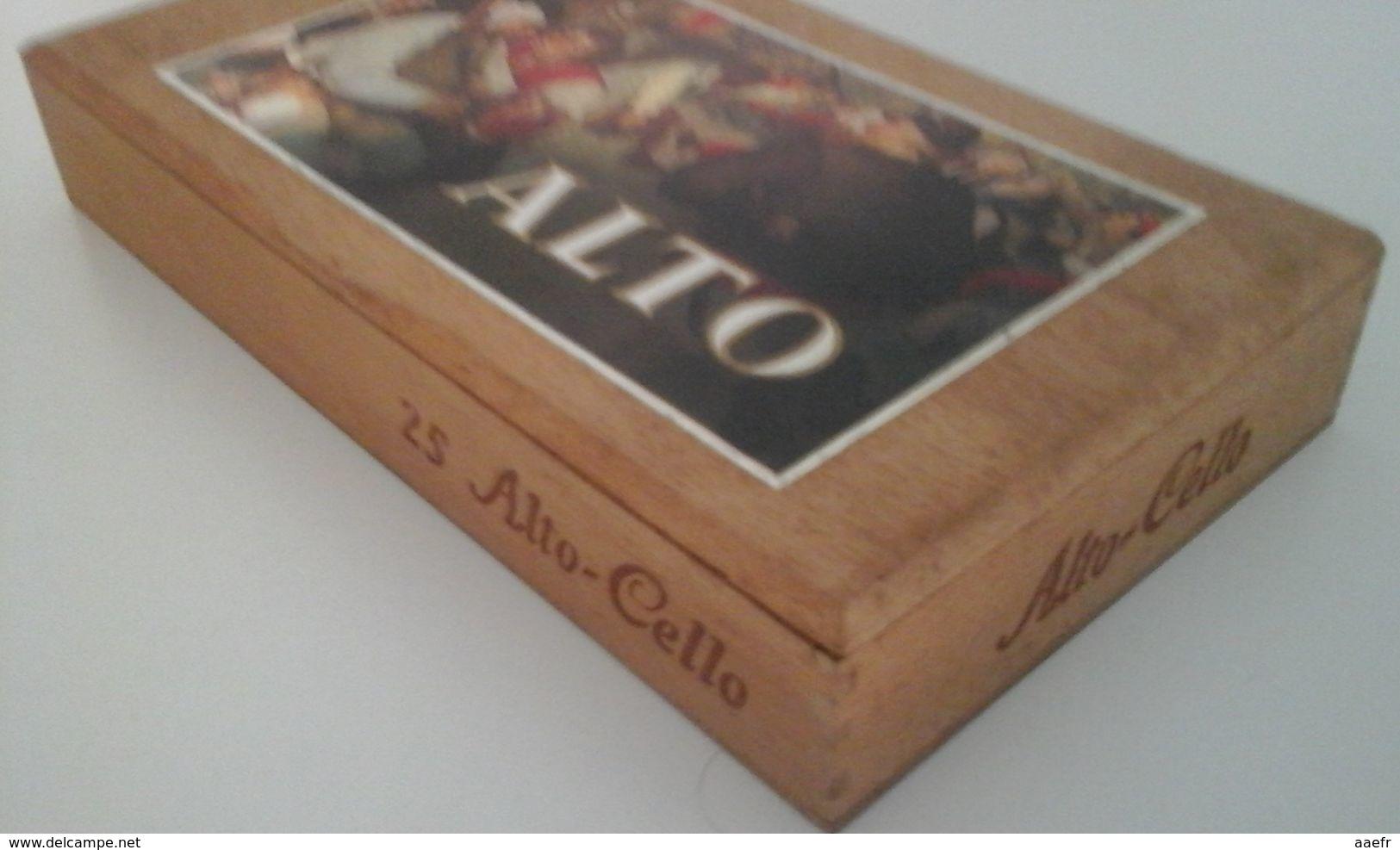 Boîte à Cigares En Bois ALTO - CELLO , Serie Brueghel - Boites à Tabac Vides