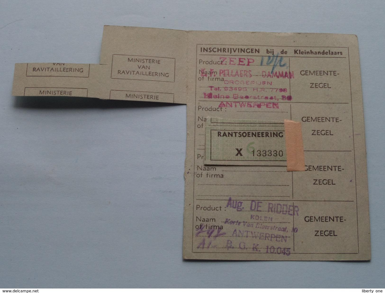 RANTSOENERINGSKAART KOLEN > Antwerpen ( Zie Foto's Voor Detail AUB ) ! - Cachets Généralité