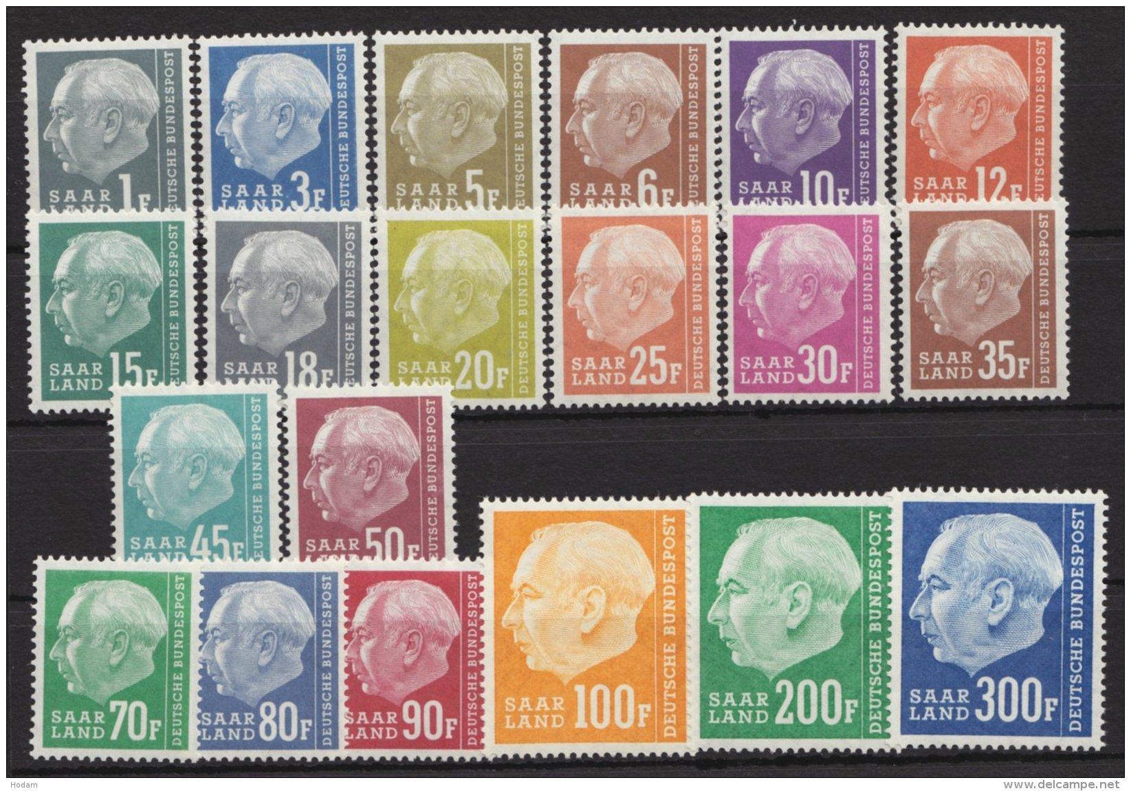 """""""Heuß II"""" Mit Währung, Komplett, 409/28, ** - 1957-59 Bundesland"""