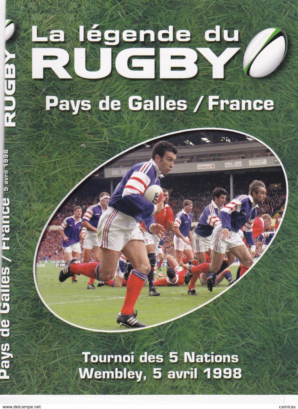 DVD: LA LEGENDE Du RUGBY:Pays De Galles / France : Tournoi Des 5 Nations WEMBLEY, 5 Avril 1998 - Sport