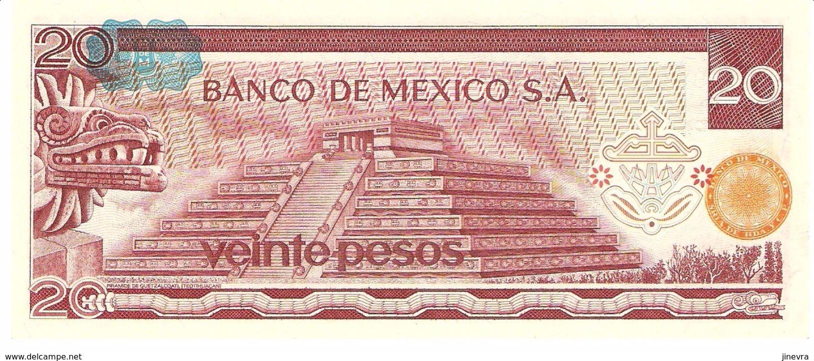 MEXICO 20 PESOS 1977 PICK 64d UNC - Mexico