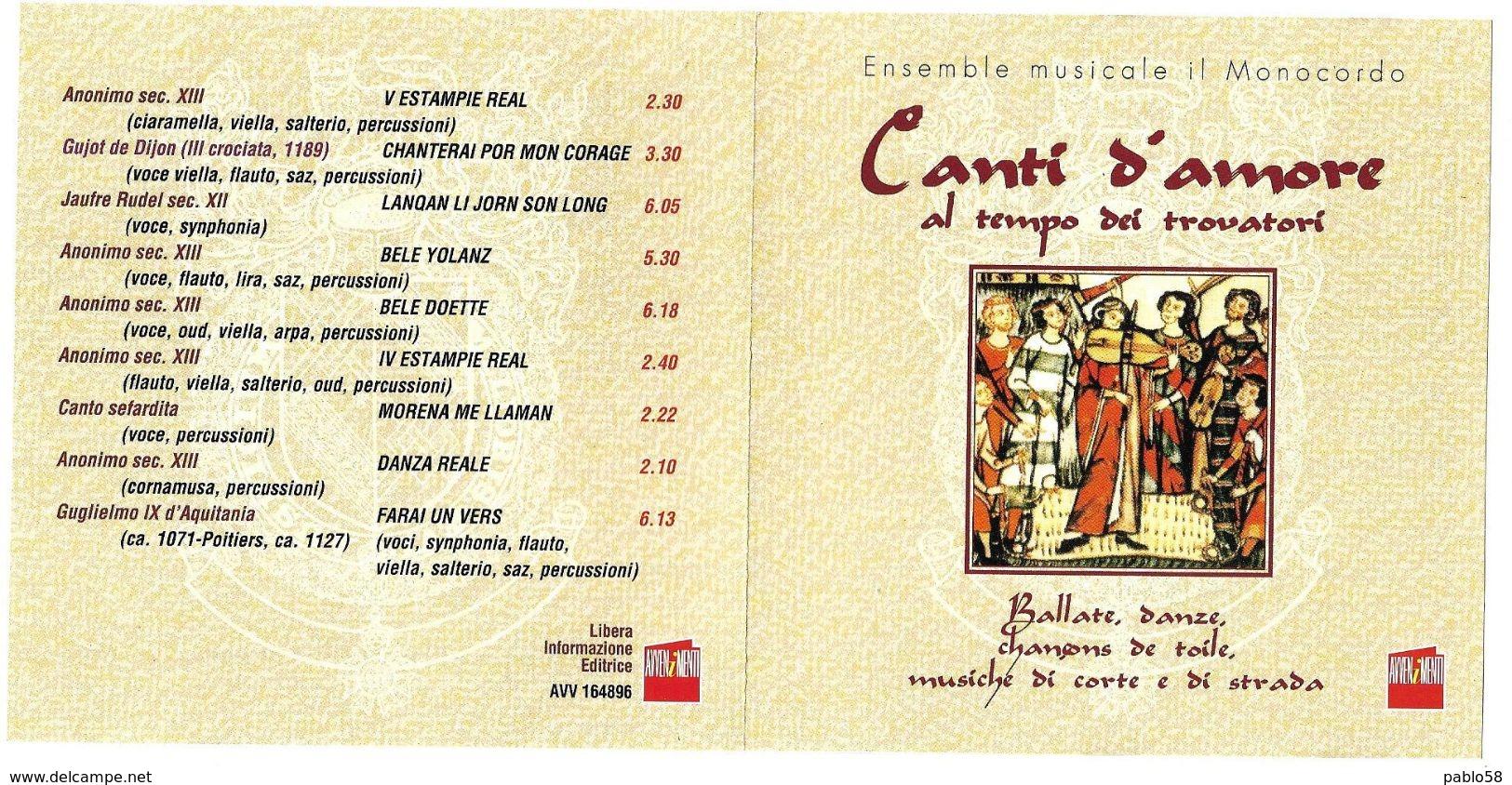 Canti D'amore Al Tempo Dei Trovatori - Musik & Instrumente