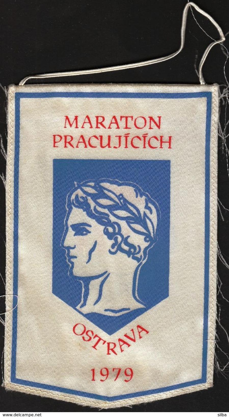 Athletics/ Flag, Pennant / Czechoslovakia / Marathon / Ostrava 1979 - Athletics