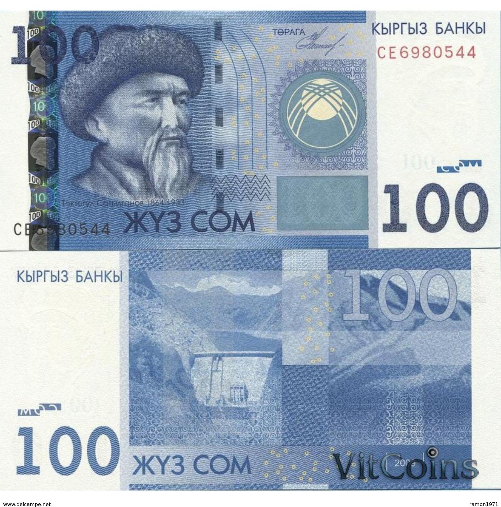 10 Pieces Kyrgyzstan - 100 Som 2009 UNC - Kyrgyzstan