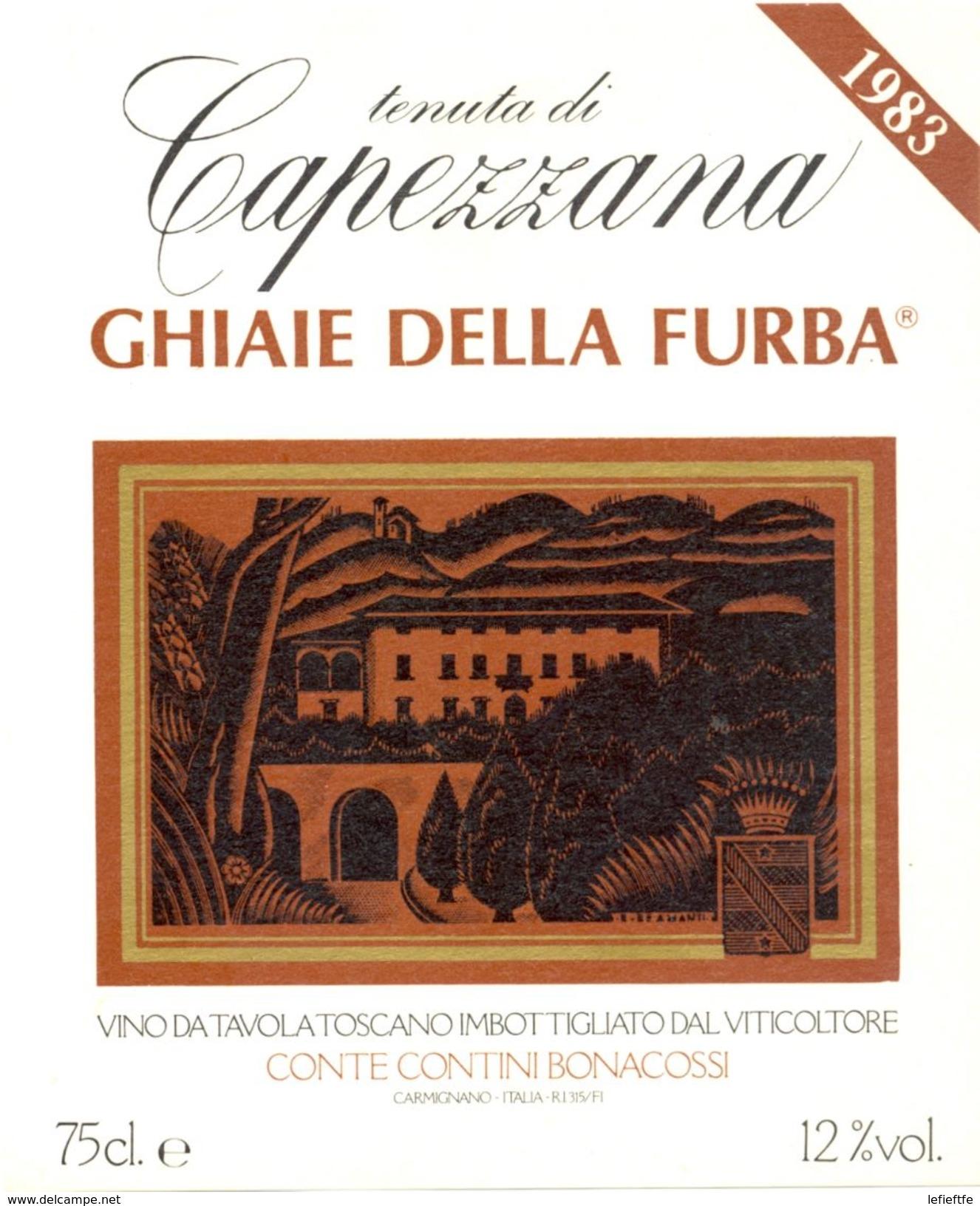 1414 - Italie - Toscane - 1983 - Tenuta Di Capezzana - Ghiaie Della Furba - Conte Contini Bonacossi - Vino Rosso