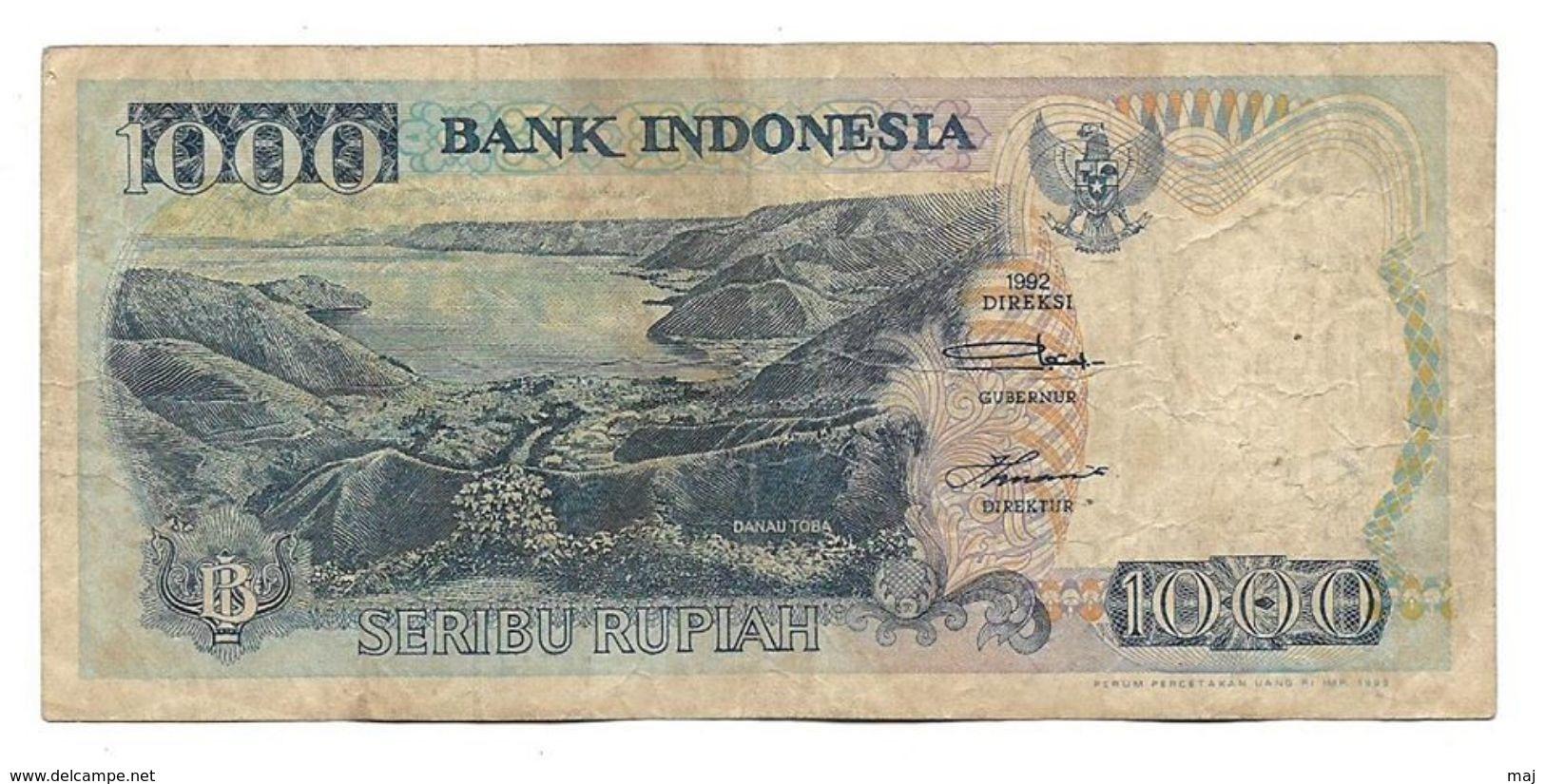 Bank Indonesia 1992 1000 Seribu Rupiah