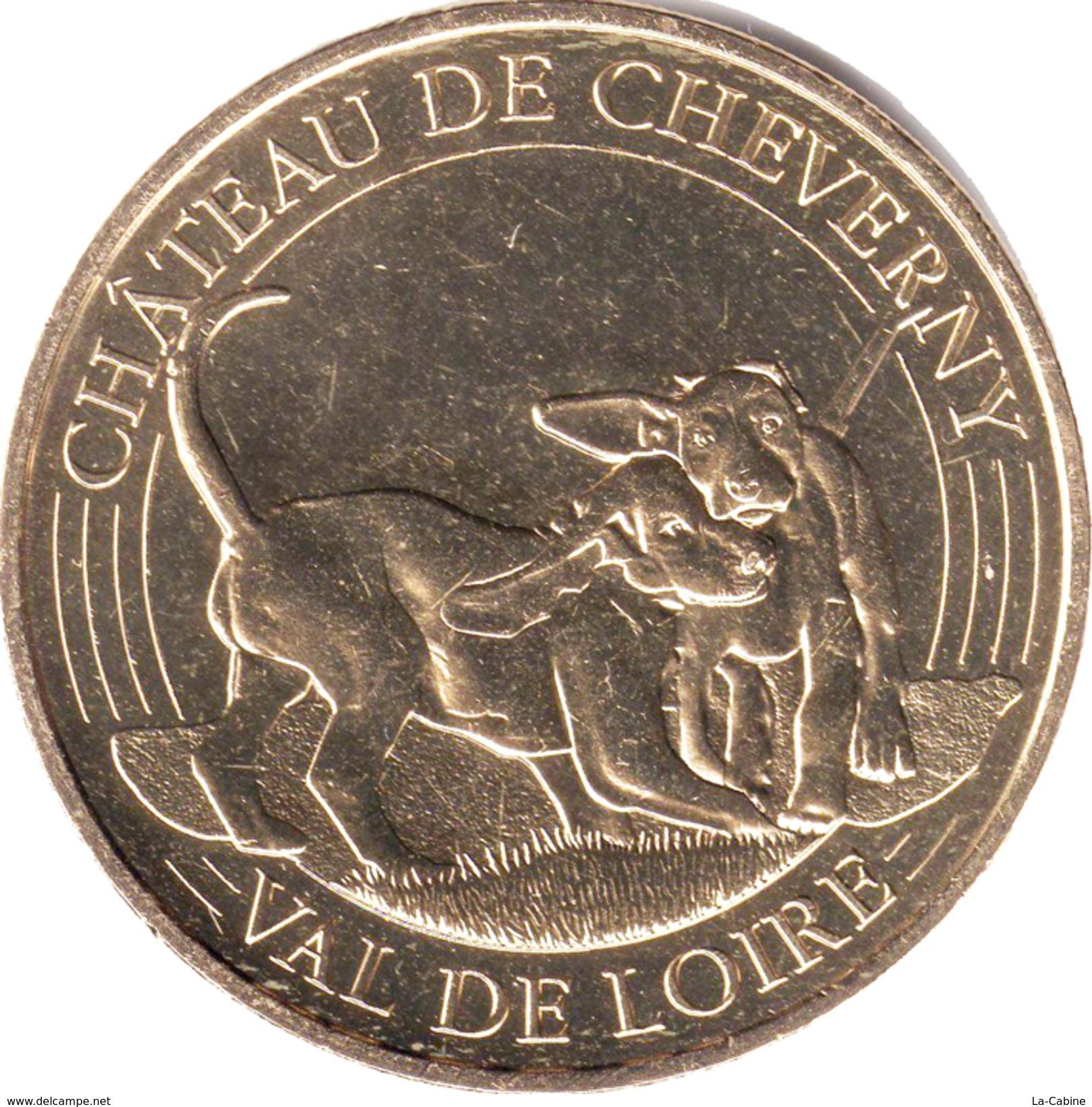 41 LOIR ET CHER CHEVERNY LE CHÂTEAU N°3 LES CHIENS MÉDAILLE MONNAIE DE PARIS 2017 JETON TOKEN MEDALS COINS - Monnaie De Paris