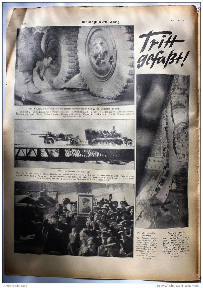 Berliner Illustrierte Zeitung 1941 Nr.12 Bulgariens Kriegsminister Begrüßt Wilhelm List - Deutsch
