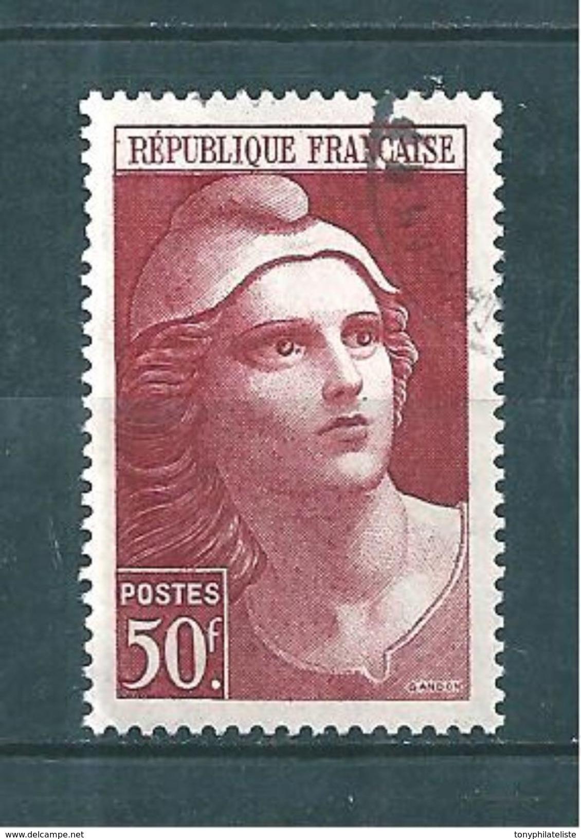 France  Timbres De 1945/47  Marianne De Gandon   N°732  Oblitérés - France