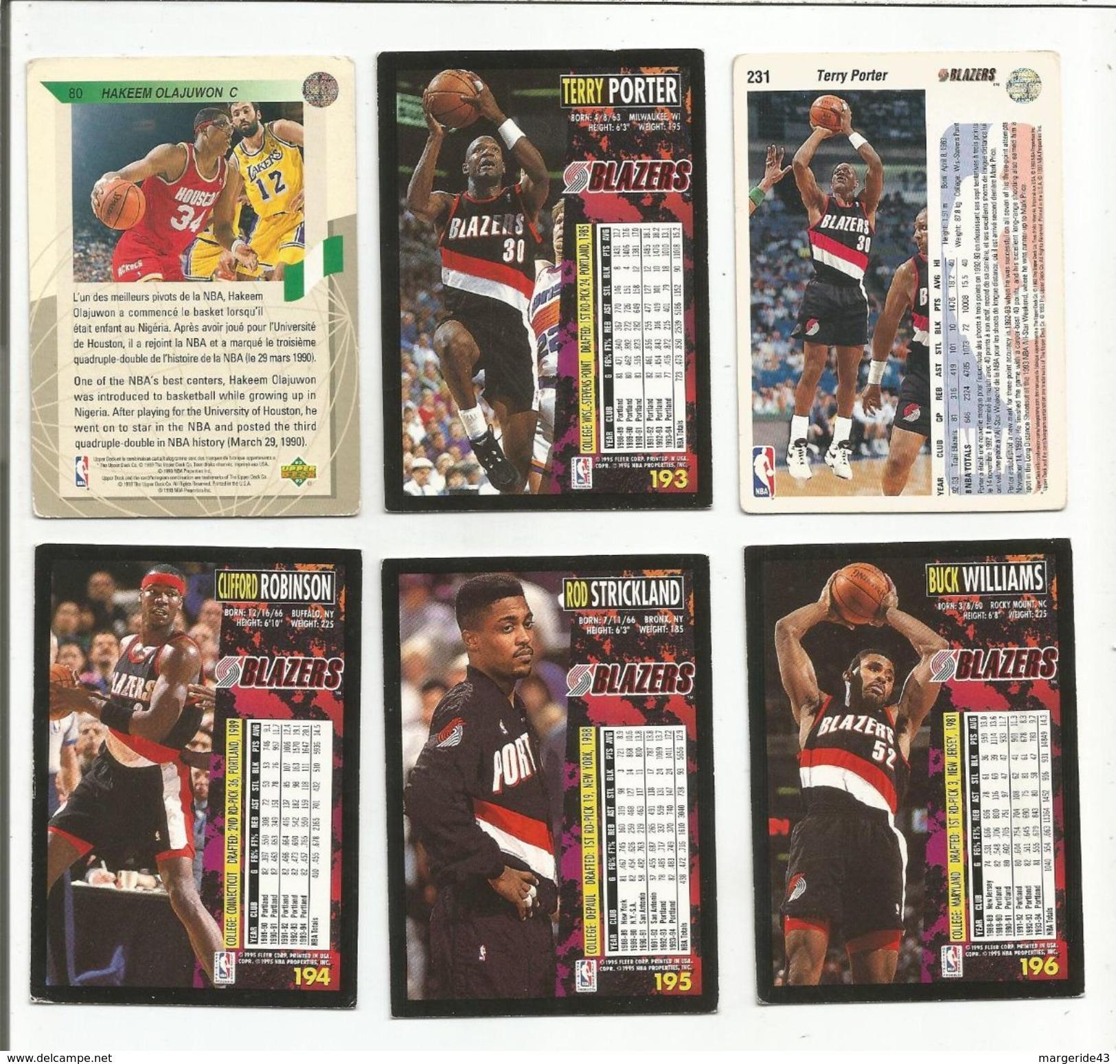 BASKETBALL NBA LOT DE CARTES PORTLAND TRAIL BLAZERS - Trading Cards
