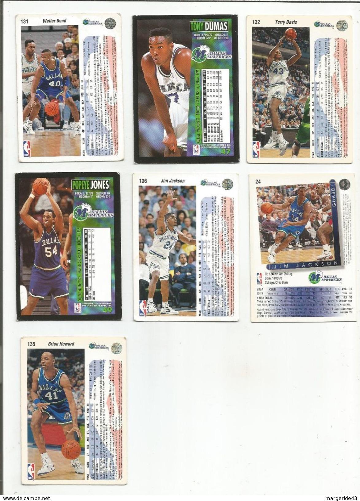 BASKETBALL NBA LOT DE CARTES DALLAS MAVERICKS - Trading Cards