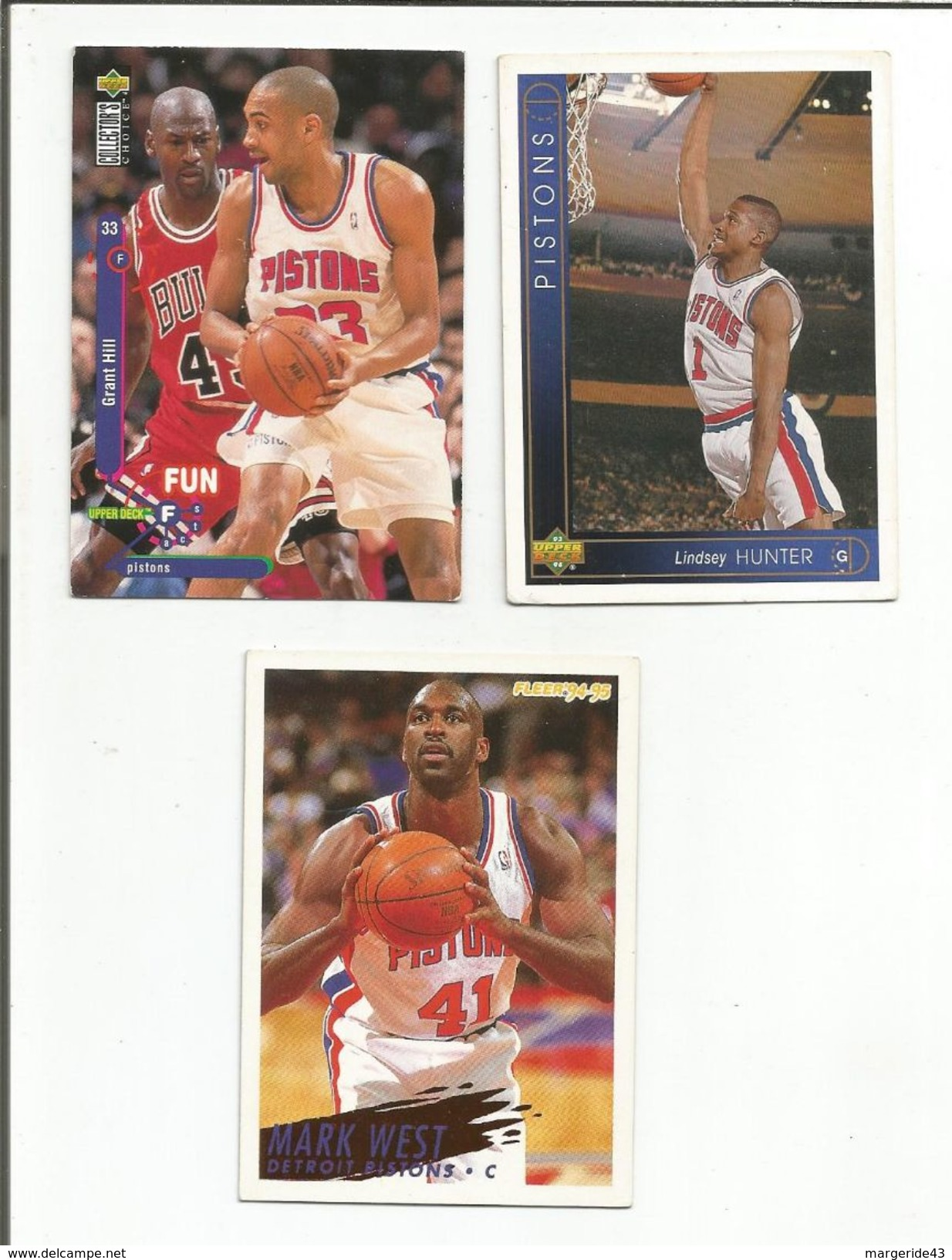 BASKETBALL NBA LOT DE CARTES DETROIT PISTONS - Trading Cards