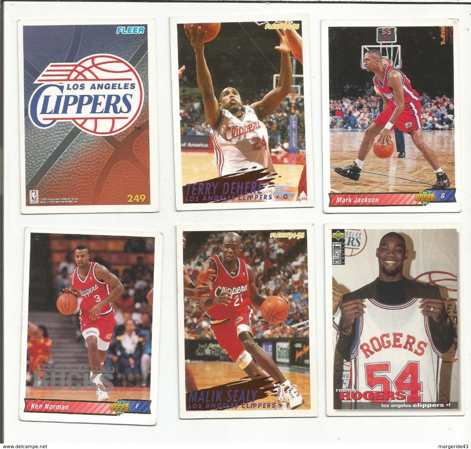 BASKETBALL NBA LOT DE CARTES LOS ANGELES CLIPPERS - Trading Cards