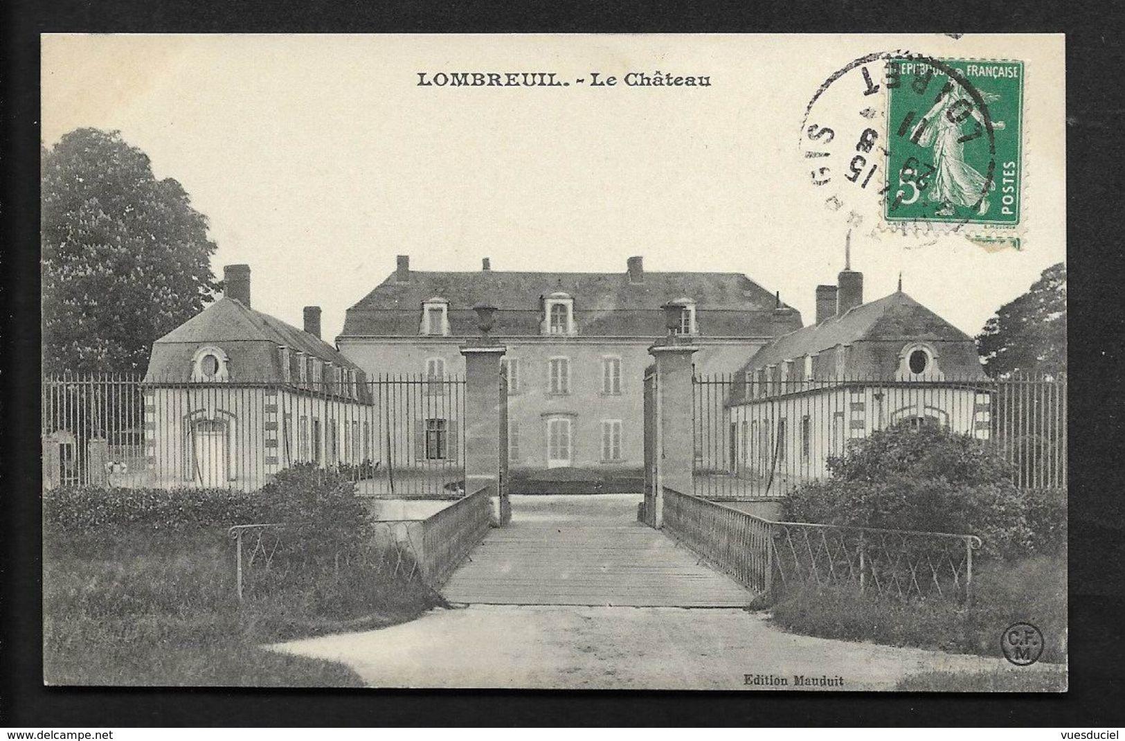 Château De Lombreuil Près De Montargis - CPA Loiret - Montargis