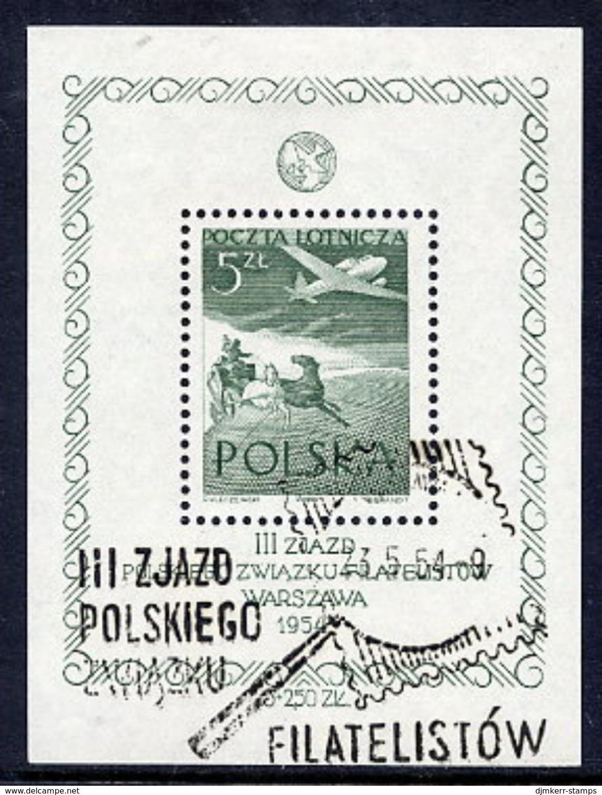 POLAND 1954 Philatelic Congress Block Used..  Michel Block 13 - Blocks & Sheetlets & Panes