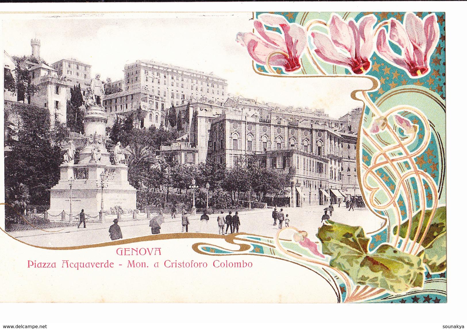§§§ GENOVA- Piazza  Acquaverda -Mon. A Cristoforo Colombo §§§ - Genova (Genoa)