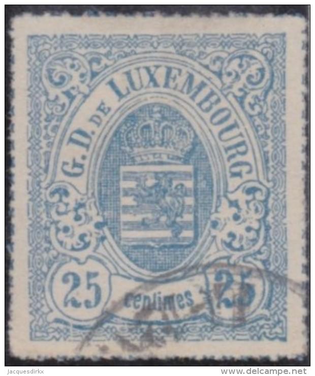 Luxembourg         .     Yvert  .    20        .       O      .         Gebruikt  .     /   .   Cancelled - 1859-1880 Wapenschild