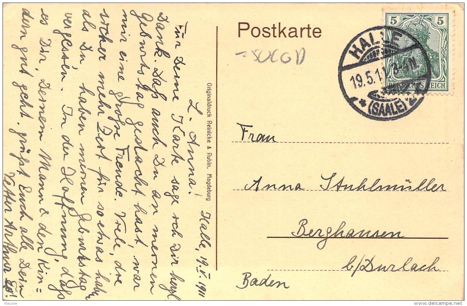 Halle A.d.Saale S/w Gel.1911 Leipziger Turm U.Ecke Leipziger Strasse - Halle (Saale)