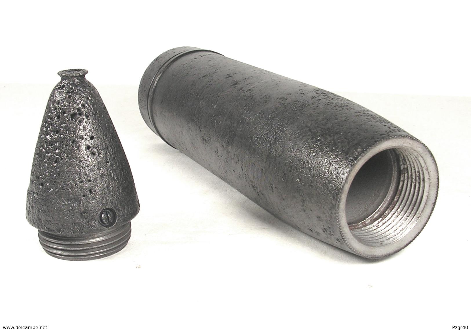 Inerte German Obus 7,5 Cm Igr. 18 Le. I.G. 18 Projektil Neutralisé - Armes Neutralisées