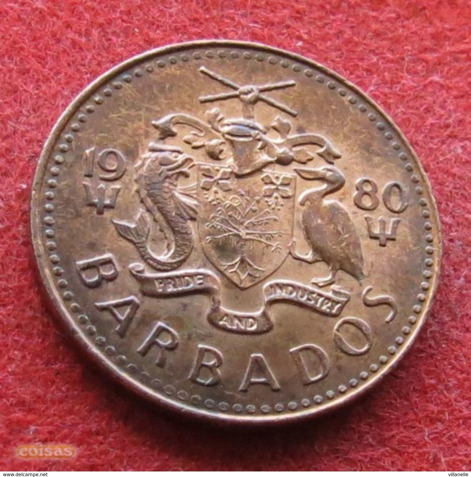 Barbados 1 Cent 1980 KM# 10  Barbades Barbade - Barbades