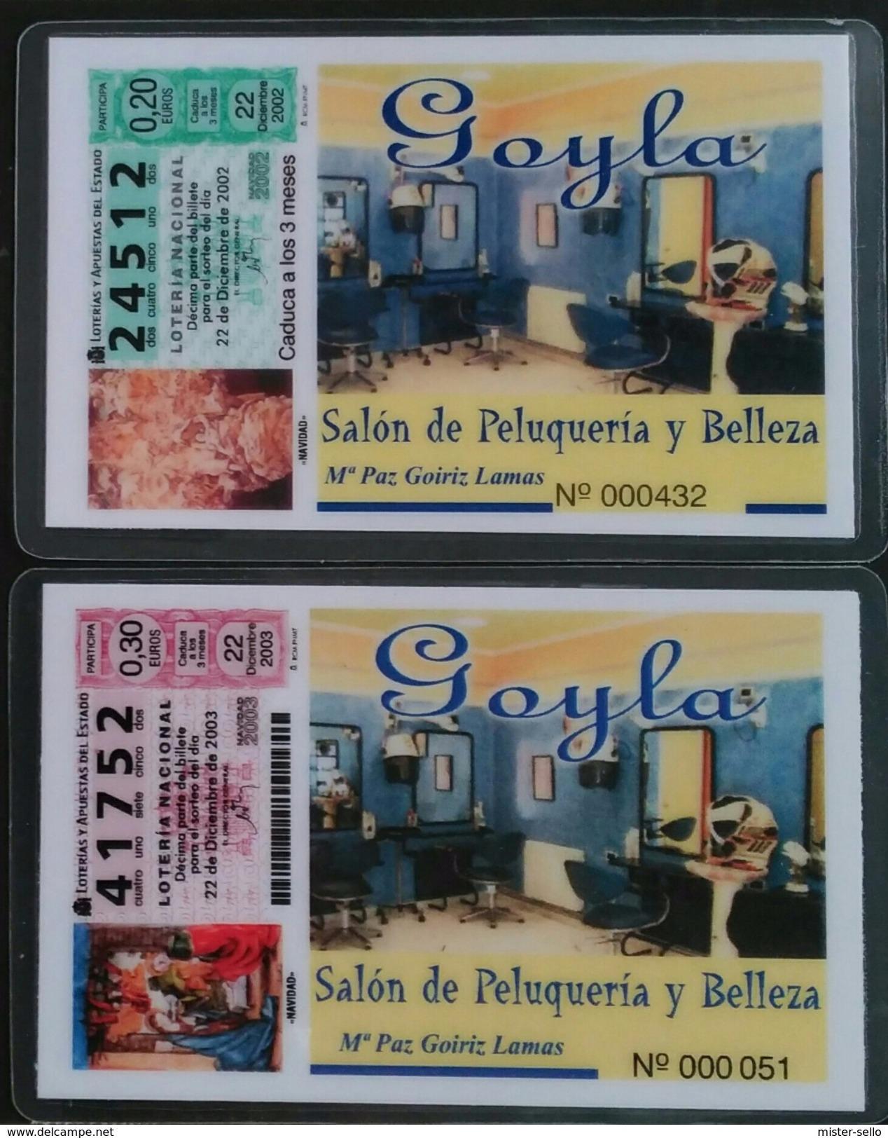 2003 - 2004. CALENDARIOS SALON DE PELUQUERÍA Y BELLEZA (PLASTIFICADO) - Calendarios