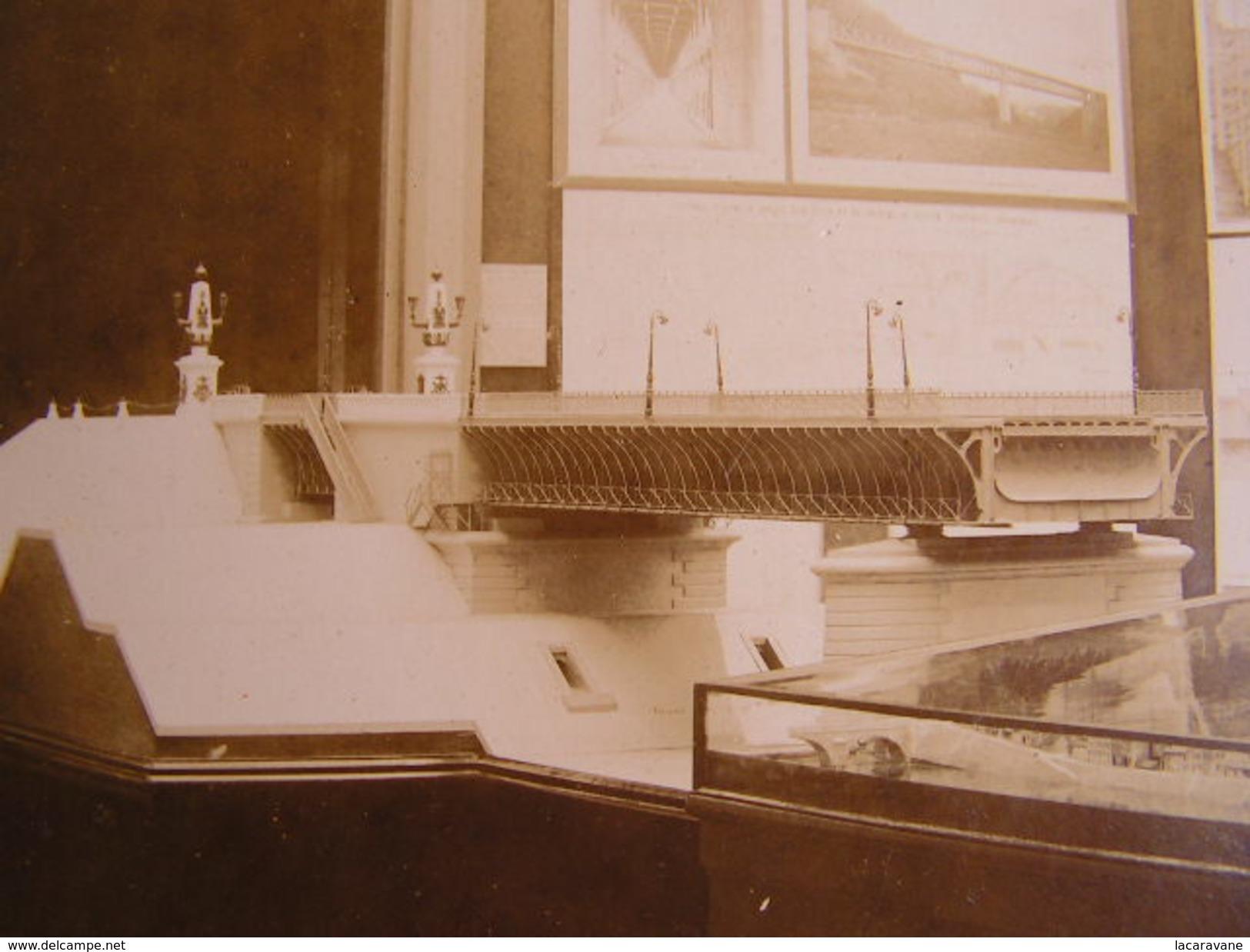 Photographie Photo Cpa 45 Loiret Pont Canal De Briare Bureau Ingenieur Mazoyer Architecte  Grand Format 38cm X 27cm - Photos