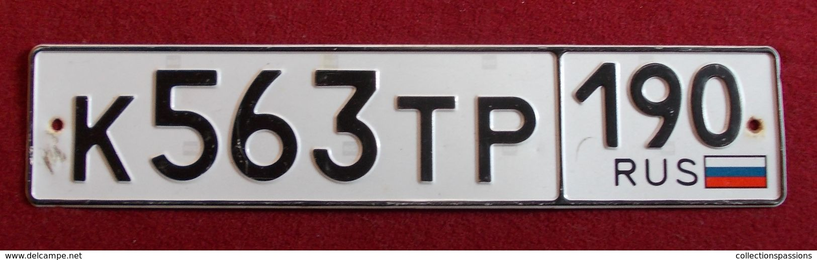 Plaque D'immatriculation - RUSSIE - - Number Plates