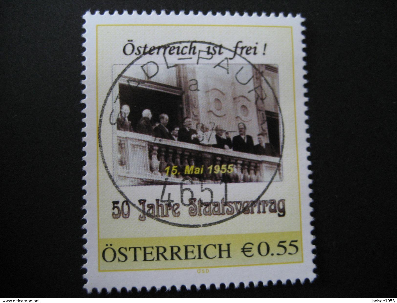PM 8005016 50 Jahre Staatsvertrag Gestempelt Stadl Paura - Österreich